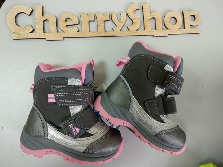 Ботинки детские для девочек B&G кожа, термо, 22 размер