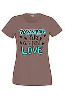 Футболка ROCK 'N' ROLL LOVE жіноча кав'ярня