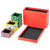 Коробки для канцелярских принадлежностей IKEA KNALLGUL 18x17 см разноцветные 104.255.45