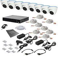 2 МП Комплект видеонаблюдения Tecsar AHD 8IN 2MEGA