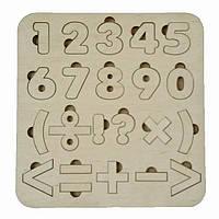 Деревянный цифры Shasheltoys Пазл сортер для детей 205х210х4 мм (А002)
