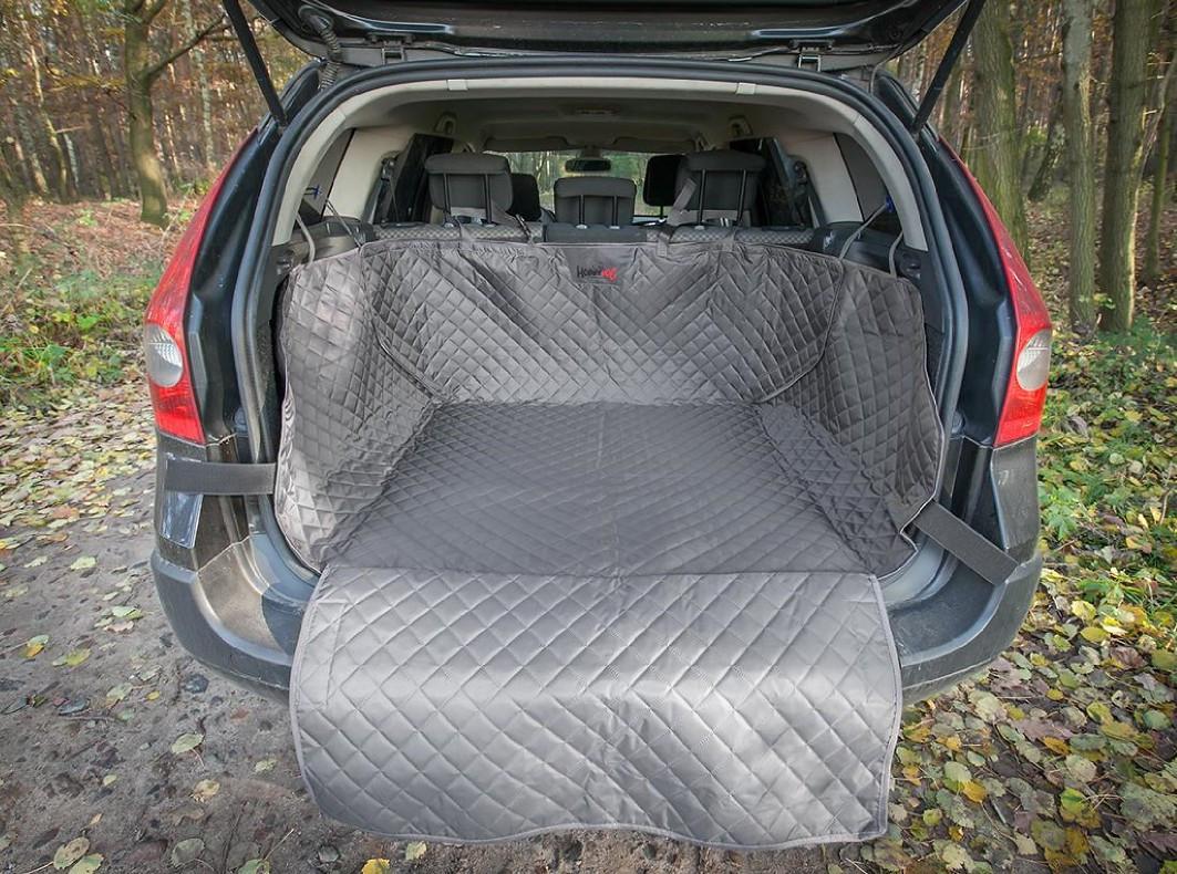 Автогамак для перевозки собак в багажнике автомобиля HobbyDog A005 серый
