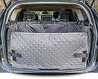 Автогамак для перевозки собак в багажнике автомобиля HobbyDog A005 серый, фото 4