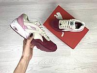 Женские кроссовки Puma Trinomic бордовые с розовым / кроссовки женские Пума
