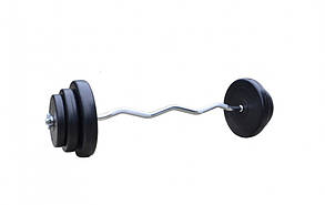 Штанга W-подібна 40 кг з протиударним ABS покриттям