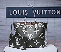 0647d5acfaf5 Сумка Louis Vuitton lv Луи виттон натуральная кожа. Болотно/белая Качество  люкс.