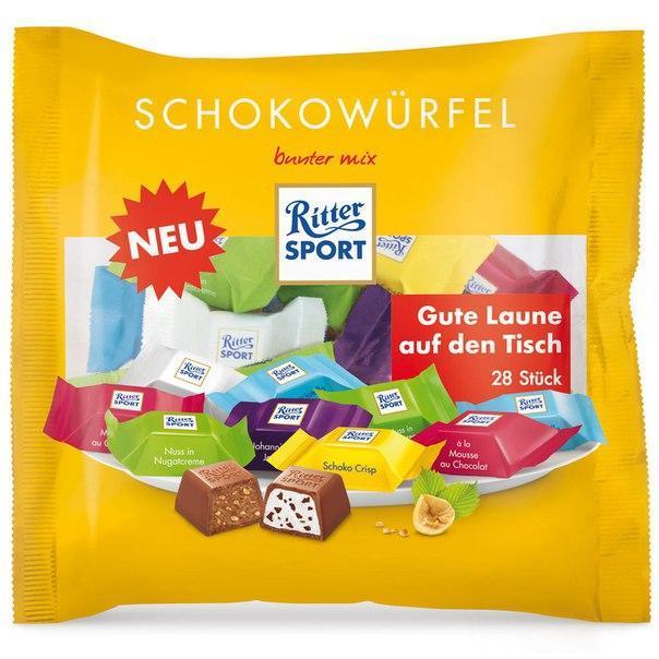 Конфеты Ritter Sport Schokowürfel 222 g