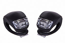 Мигалка 2шт BC-RL8001 белый+красный свет LED силиконовый (черный корпус)