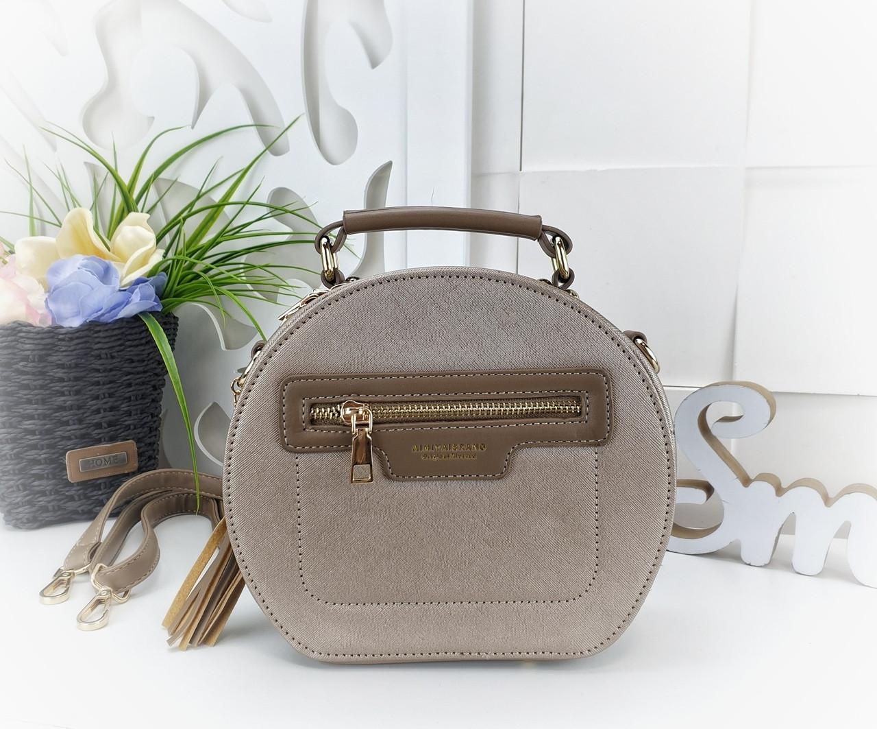19e2e9b87abe Модная сумка-клатч круглой формы из искусственной кожи золотого цвета -  Баэль в Харькове