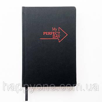 Недатированный блокнот-ежедневник Active My perfect day (черно-красный)