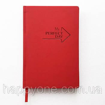 Недатированный блокнот-ежедневник Active My perfect day (красный)