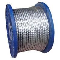 Трос стальной оцинкованный DIN 3055 1.5 mm (1x19) (бухта 200 м)