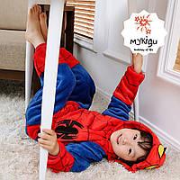 """Пижама кигуруми детская """"ЧЕЛОВЕК ПАУК"""" 100см"""