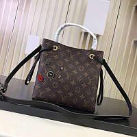 65ada57f71ce Сумка Louis Vuitton lv Луи виттон 24/22 см натуральная кожа Коричневая  Качество люкс.