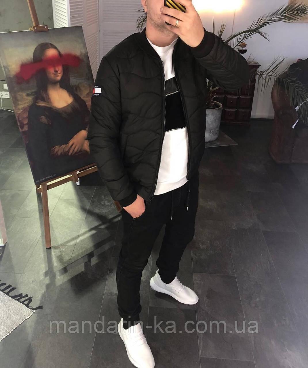 Мужская ветровка  бомбер куртка пилот Tommy Hilfiger Томми Хилфигер (реплика)