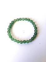 Браслет d-6 из натурального светло-зелёного нефрита, унисекс, отлично как подарок