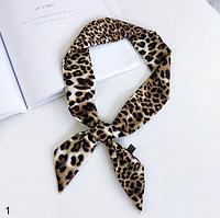 Шелковая повязка на голову леопардовая