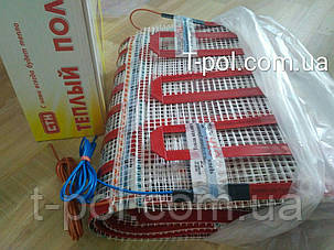 Ленточный теплый пол cтн нагревательный мат up 6 м2 под плитку или под ламинат размер 1м*6м, фото 2