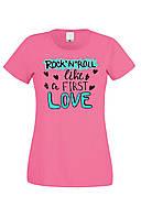 Футболка ROCK 'N' ROLL LOVE женская розовая