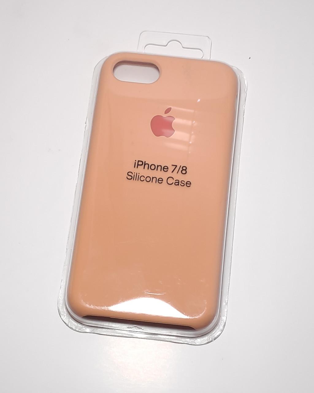 """Силиконовый чехол для Apple iPhone 7 / 8 (4.7"""") (точная копия оригинала) Персиковый / Peach"""
