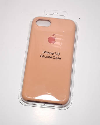 """Силиконовый чехол для Apple iPhone 7 / 8 (4.7"""") (точная копия оригинала) Персиковый / Peach, фото 2"""