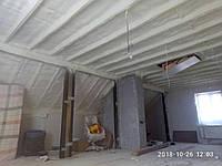 Напыление пенополиуретана ЖЕСТКОГО по стропильной части мансардного этажа - правильное решение