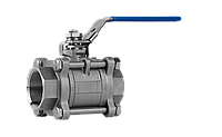 Кран шаровой нержавеющая сталь 3-х сост внутр-внутр резьба Ду 100  AISI 304