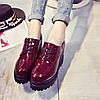 Шикарні туфлі лаковані черевики на високій підошві Ботильйони, фото 6