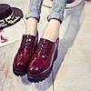 Шикарные демисезонные лакированные ботинки на высокой подошве Ботильоны, фото 6