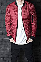 Мужская ветровка  бомбер куртка пилот  красная