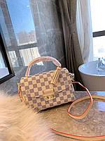 958c75b5adbe Сумка Louis Vuitton lv Луи виттон 23cm натуральная кожа  Черно/бежеваяКачество люкс.