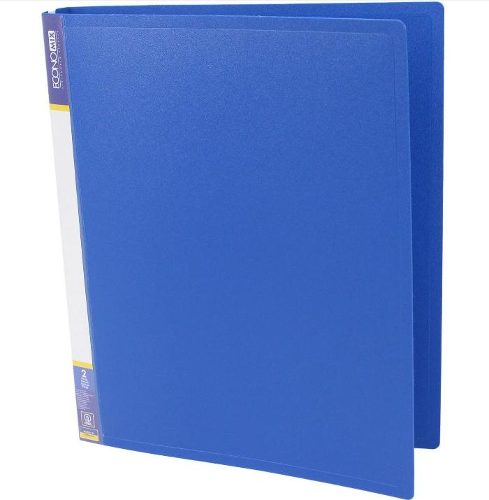 Папка пластиковая А4 Economix 2 кольца, синяя