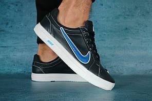 Кеды мужские кожаные Nike синие весна-осень