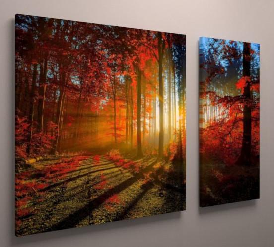 Картина модульная осенний пейзаж 100х60