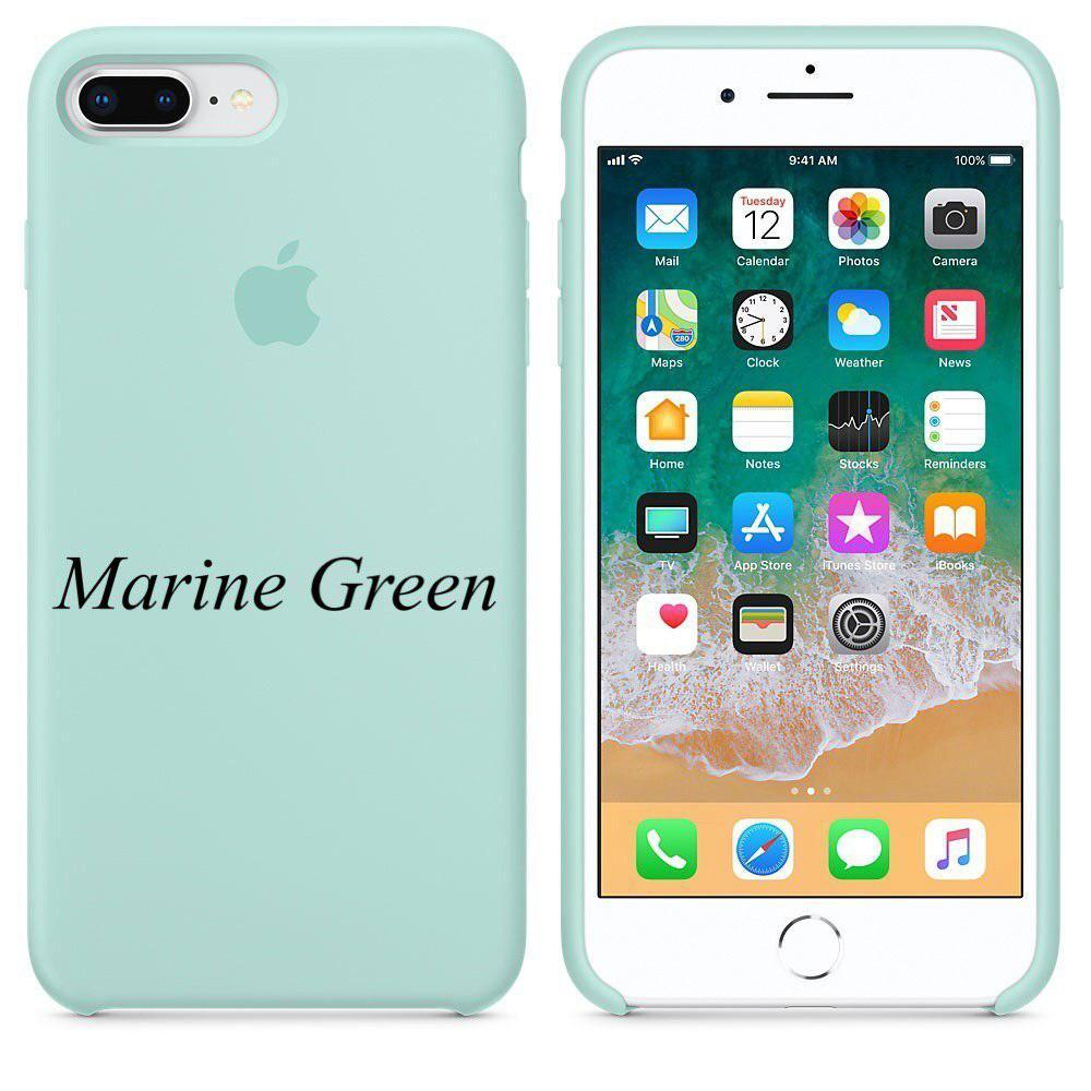 "Apple silicon case 7 Plus  ""Marine Green"""
