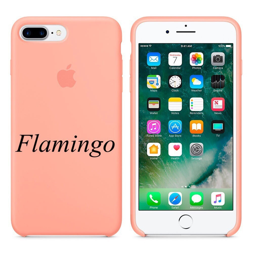"Apple silicon case iPhone 7 plus  ""Flamingo"""