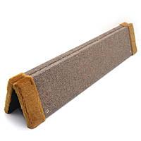 Дряпка когтеточка угловая для котов ДУ макси коричневая +коричневый, фото 1