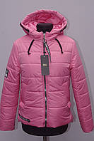 Красивая подростковая весенняя куртка на девочку с капюшоном , фото 1