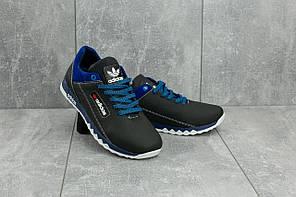 Кроссовки подростковые кожаные весна-осень Adidas синий-красный