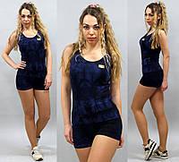 Женский костюм для спорта майка и шорты