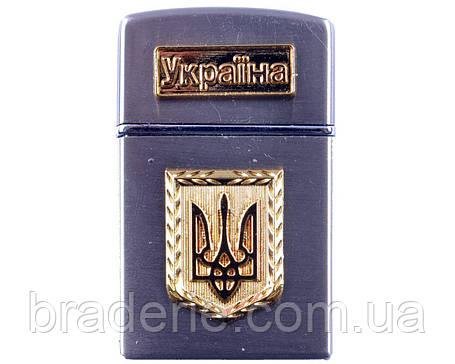 Зажигалка газовая турбо 4525 Герб Украины, фото 2