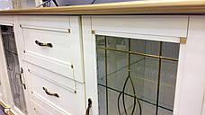 Комод  с витражами  2Д3Ш с витражом Ривьера Микс мебель цвет слоновая кость + патина золото, фото 2