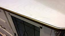 Комод  с витражами  2Д3Ш с витражом Ривьера Микс мебель цвет слоновая кость + патина золото, фото 3
