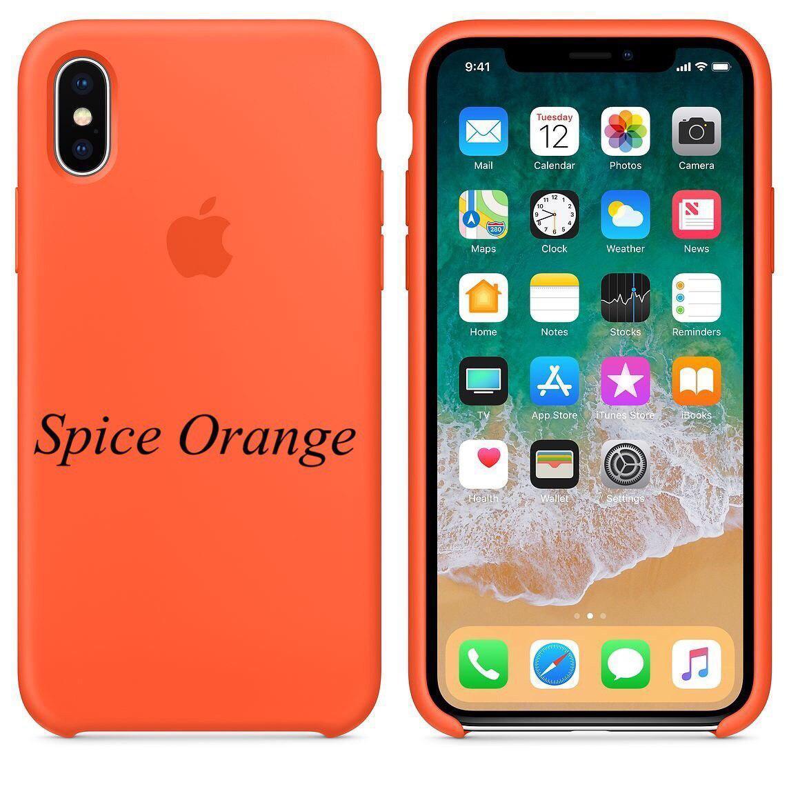 "APPLE SILICON CASE IPHONE X "" SPICE ORANGE """