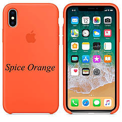 "APPLE SILICON CASE IPHONE X "" SPICE ORANGE """