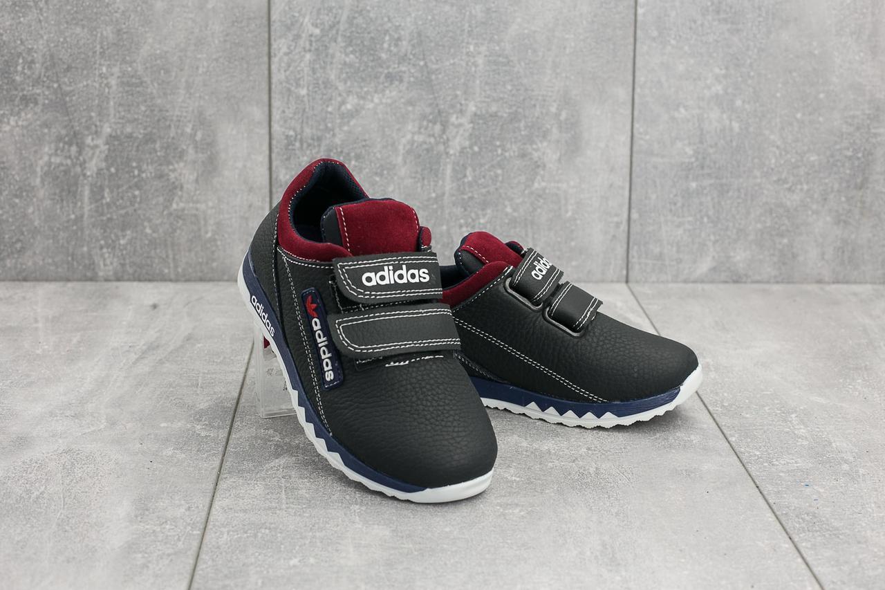 Детские кожаные кроссовки синие Adidas весна-осень