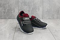 Детские кожаные кроссовки синие Adidas весна-осень, фото 1