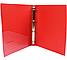 Папка пластиковая А4 Economix 2 кольца, красная, фото 2