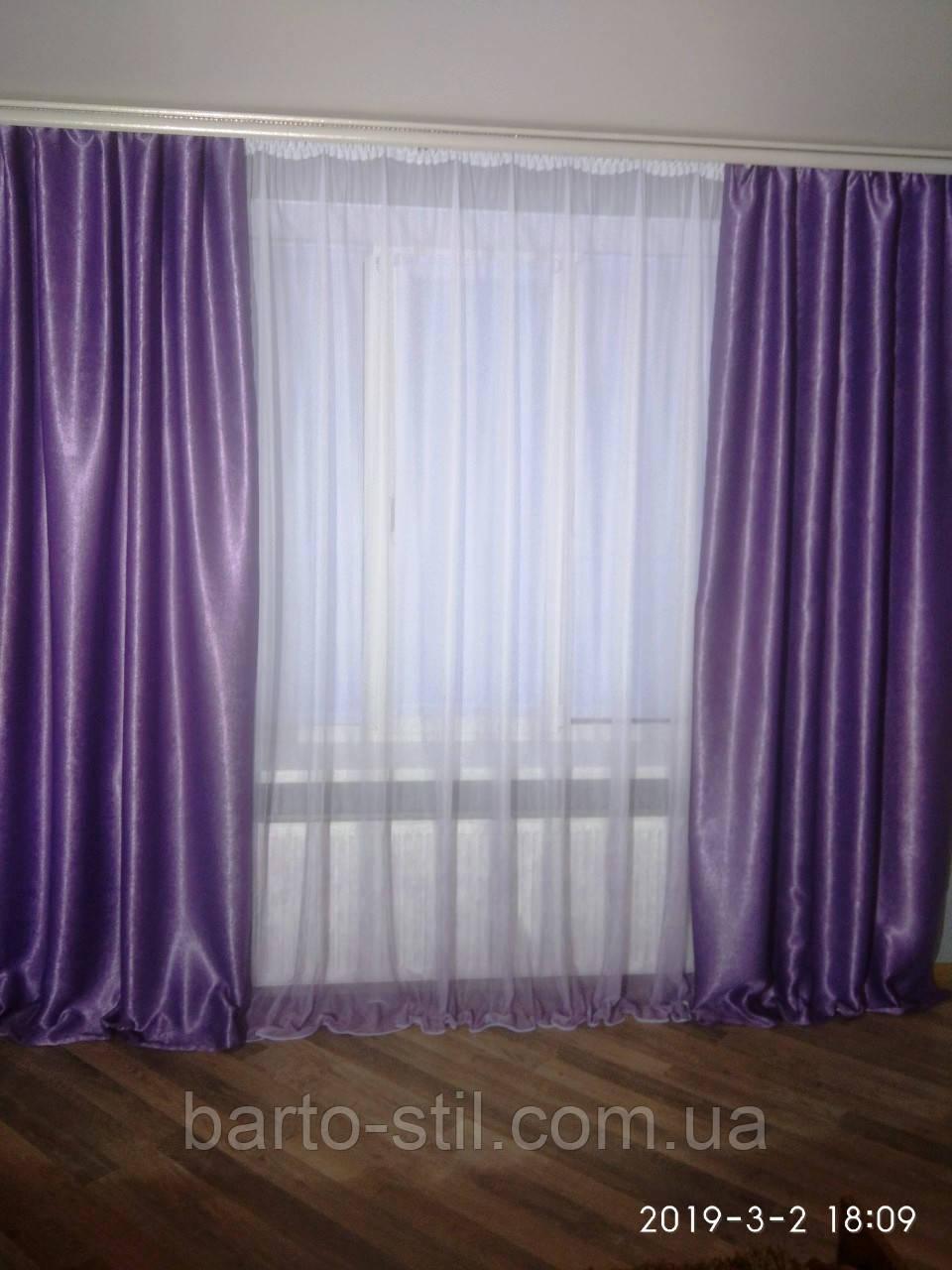 """Новинка Готовый комплект """"Италия"""":тюль с  шторыами из  блек аута. для гостиной,спальни высота 2.7 м"""