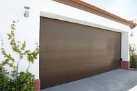 Ворота 2750х2500 гаражные c приводом Promatic L-гофр Planar Matt deluxe glatt Hormann, фото 1